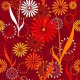Naadloos retro patroon met bloemen Royalty-vrije Stock Foto