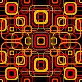 Naadloos retro patroon met rond gemaakte vierkanten Stock Afbeeldingen