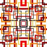 Naadloos retro patroon met vierkanten Royalty-vrije Stock Foto