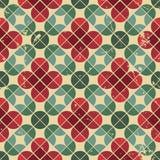 Naadloos retro patroon, vectortegelsachtergrond met slordige grung Royalty-vrije Stock Afbeeldingen
