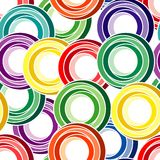 Naadloos Ring Pattern Stock Foto's