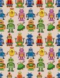 Naadloos robotpatroon Stock Afbeelding