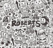 Naadloos robotpatroon Stock Fotografie