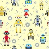 Naadloos robotspatroon Stock Afbeelding
