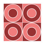 Naadloos rood cirkelpatroon Royalty-vrije Stock Afbeeldingen