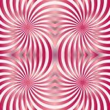 Naadloos Rood en Roze Spiralenpatroon Geschikt voor textiel, stof en verpakking Stock Foto