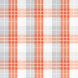 Naadloos rood gecontroleerd patroon Stock Afbeelding