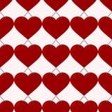 Naadloos rood hart Vector Illustratie