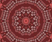Naadloos roodbruin ornament Royalty-vrije Stock Foto's