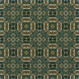 Naadloos roosterpatroon in het oosterse Patroon van het stijl psychedelische mozaïek voor behang, achtergronden, decor voor tapij royalty-vrije stock foto's