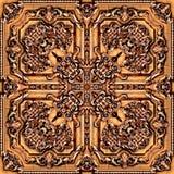 Naadloos roosterpatroon in het oosterse Patroon van het stijl psychedelische mozaïek voor behang, achtergronden, decor voor tapij stock illustratie