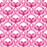 Naadloos roze abstract patroon in de vorm van Stock Fotografie
