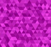 Naadloos roze abstract patroon Geometrische purpere die druk uit driehoeken en veelhoeken wordt samengesteld Helder nam achtergro Stock Afbeeldingen