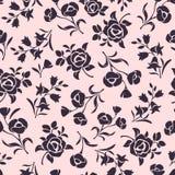 Naadloos roze bloemenpatroon Vector illustratie royalty-vrije illustratie