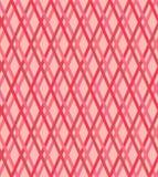 Naadloos roze en rood lijnenpatroon, vectortextuur Stock Afbeelding