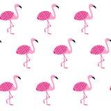 Naadloos roze flamingopatroon De zomerachtergrond Vector illustratie EPS10 royalty-vrije illustratie