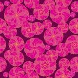 Naadloos roze geometrisch patroon als achtergrond op een donkere achtergrond Royalty-vrije Stock Fotografie