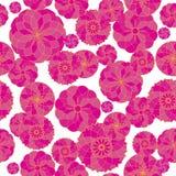 Naadloos roze geometrisch patroon als achtergrond op een witte achtergrond royalty-vrije stock afbeelding