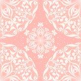 Naadloos roze patroon met cirkels royalty-vrije illustratie