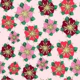 Naadloos roze vector bloemenpatroon Royalty-vrije Illustratie