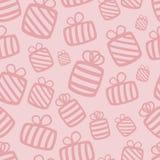 Naadloos roze vectorgiftpatroon stock illustratie
