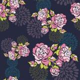 Naadloos rozenpatroon Royalty-vrije Stock Fotografie