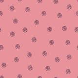 Naadloos rozenpatroon Royalty-vrije Stock Afbeelding