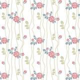 Naadloos rozenpatroon met lijnen Stock Foto's