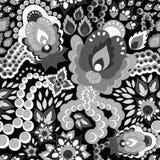 Naadloos Russisch patroon oriënteer of het ontwerp van Paisley Illust vector illustratie
