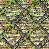 Naadloos in rustict breiend patroon royalty-vrije stock afbeelding