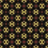 Naadloos samenvatting gedetailleerd patroon in warme kleuren Stock Foto's