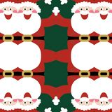 Naadloos Santa Claus-patroon stock illustratie