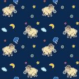 Naadloos schapenpatroon Royalty-vrije Stock Afbeeldingen