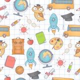 Naadloos schoolpatroon Stock Fotografie