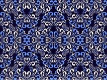Naadloos sier blauw-wit Patroon. Royalty-vrije Stock Foto