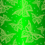 Naadloos sierbehang met vlinder stock illustratie