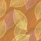 Naadloos sierpatroon met bladeren Royalty-vrije Stock Afbeelding