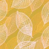 Naadloos sierpatroon met bladeren Royalty-vrije Stock Afbeeldingen