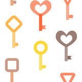 Naadloos sleutelspatroon Stock Foto's