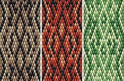 Naadloos snakeskinpatroon Royalty-vrije Stock Fotografie