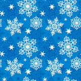 Naadloos sneeuwvlokkenpatroon Stock Afbeelding