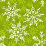 Naadloos sneeuwvlokkenpatroon,   Royalty-vrije Stock Afbeelding