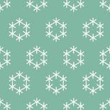 Naadloos Sneeuwvlokpatroon Royalty-vrije Stock Foto's