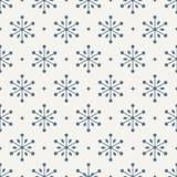 Naadloos Sneeuwvlokpatroon Royalty-vrije Stock Foto
