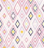 Naadloos speels creatief patroon De modieuze ruit kleurrijke achtergrond van de puntenkrabbel vector illustratie