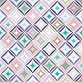 Naadloos speels creatief patroon De modieuze ruit van de puntenkrabbel royalty-vrije illustratie