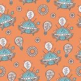 Naadloos steampunkpatroon vector illustratie