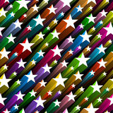 Naadloos sterrenpatroon Royalty-vrije Stock Foto's