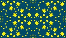 Naadloos sterrenpatroon Royalty-vrije Stock Afbeelding