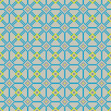Naadloos stikkend patroon in koele kleuren Stock Afbeeldingen